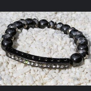 Stretch Bracelet - Hematite & Chinese Crystals
